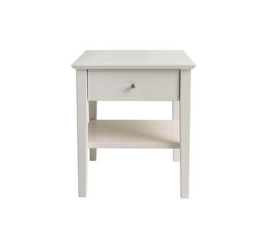 Kuusamo yöpöytä valkoinen